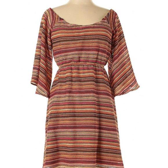 Judith March Dresses & Skirts - Judith March Off The Shoulder Flutter Sleeve Dress